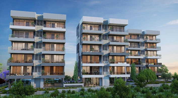 Luxurious 2 and 3 bedroom apartments in a new residential project, Limassol