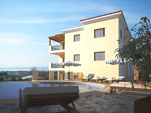 Well-presented 1 & 2 Bedroom Apartments for Sale in New Complex with Communal Swimming Pool in Paphos